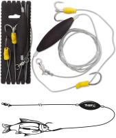 BLACK CAT Unterwasser-Posen Rig L 100kg 180cm 2/0