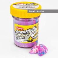 Power Bait Natural Glitter Garlic Captain America - Forellenteig 50g