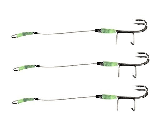 SAVAGE GEAR CARBON 49 SPIKE DOUBLE HOOK STINGER 9cm #4