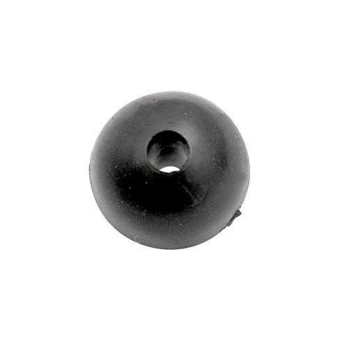 BLACK CAT Rubber Shock Bead 10mm 10 Stück