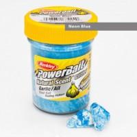 Power Bait Natural Glitter Garlic White/Neon Blue - Forellenteig 50g